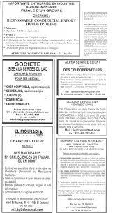 bureau d emploi tunisie pointage recrutement en tunisie offre d emploi du 09 10 2011 source journal