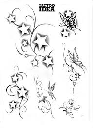 25 magical shooting star tattoos slodive clip art library