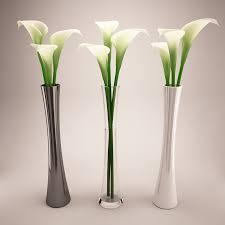 Modern Flower Vase Arrangements Calla 3 Small Vases Whitegekko