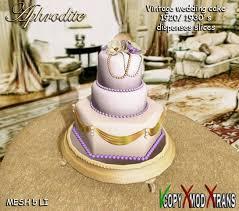 second life marketplace aphrodite vintage wedding cake 1920