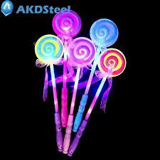 stick up led lights akdsteel led light up lollipop glow stick girls flashing fairy wand