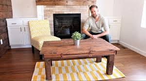 the 30 farmhouse coffee table diy project youtube