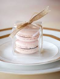 macaron wedding favors macaron in a clear box for a party favor pin from