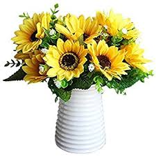 Artificial Sunflowers Amazon Com Sunflowers Silk Artificial Flowers Floral Decor