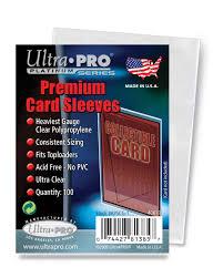 pixel car transparent amazon com ultra pro 100 pcs soft card sleeves 2 5 8 x 3 5 8