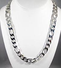 figaro mens necklace images Sterling silver figaro chain ebay jpg