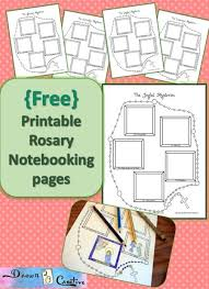 free rosaries free rosary notebooking pages drawn2bcreative pray learn