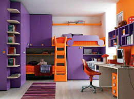 Bedroom Exciting Kid Purple Orange Cool Bedroom Decoration Using - Design your own bedroom for kids
