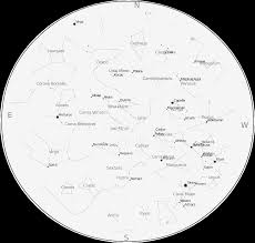 Map Of Constellations How To Read A Star Chart U2013 One Minute Astronomer