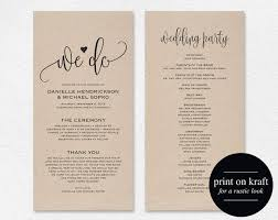 wedding program ideas templates wedding program template template design