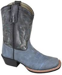 clearance s boots size 9 smoky mountain childs blue black leather gallup cowboy boots size