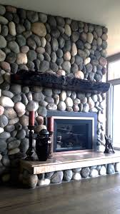rustic fireplace mantel live edge wood littlebranch farm