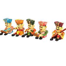 wooden musician set indian handicrafts gift handicrafts online