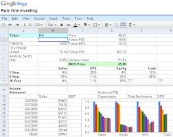 stock report template excel stock analysis using spreadsheets maulik net