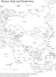 Blank Map Of The Asia by Blank Map Of Asia Within Asia With Names Evenakliyat Biz