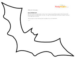 Halloween Cut Outs Free Bat Template Printables U2013 Fun For Christmas