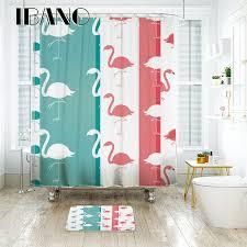 Flamingo Shower Curtains Ibano Flamingo Shower Curtain Waterproof Polyester Fabric Bath