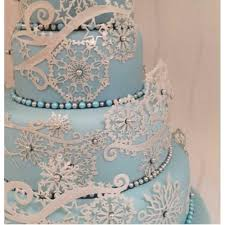 edible lace bowman snowflakes cake edible lace silicone tool