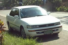 toyota corolla sedan 1993 1993 toyota corolla e100 facelift sedan photos specs and