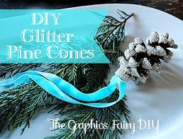 Decorating Pine Cones With Glitter Diy Make Glitter Pine Cones The Graphics Fairy