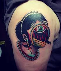 evil eye shoulder tattoo tattoo shortlist