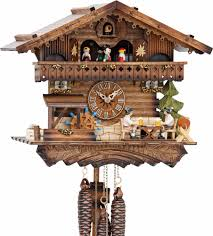 Chalet Style Cuckoo Clock 1 Day Movement Chalet Style 30cm By Hekas 3622 Ex