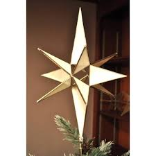 Star Christmas Tree Toppers Lighted - tree topper moravian star lighted tree topper glass starry treasures