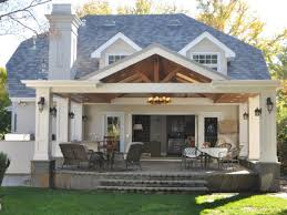 backyard covered patio home outdoor decoration