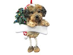 amazon com yorkipoo dog dangling wobbly leg christmas ornament