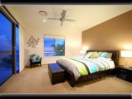 Bedroom Design Idea With Carpet  Sash Windows Using Brown Colours - Colourful bedroom ideas