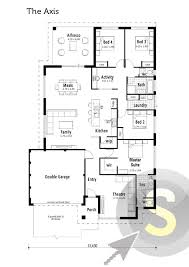 The Axis Floorplan Squat Lot Design 4x2 Theatre Central Centralized Kitchen Floor Plans