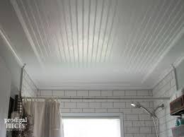 Bathroom Ceilings Farmhouse Bathroom Remodel Reveal Prodigal Pieces