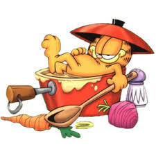 garfield cook thanksgiving dinner clipart image picture