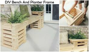 Wood Planter Bench Plans Free by Diy Bench And Planter Frame I Luv Diy