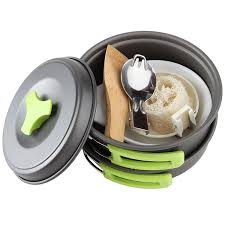 amazon com mallome camping cookware kit with folding spork