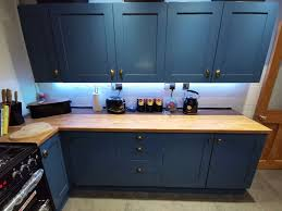 can you paint b q kitchen cabinets quoted 1 700 for kitchen makeover transforms it