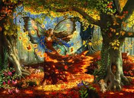 halloween jigsaw puzzles amazon com woodland fairy 1500 pc jigsaw puzzle toys u0026 games