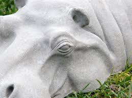 hippo garden ornament hippopotamus sculpture 17 long birthday