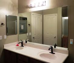 Large Framed Bathroom Wall Mirrors Bathroom Mirrors Lowes Wood Framed Large Vanity For Mirror