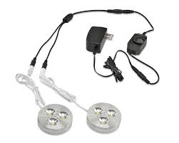 dimmable led puck lights ledquant set of 2 led dimmable under cabinet lighting kit 3watt led