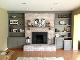 red brick fireplace accent wall color whole remodel ideas