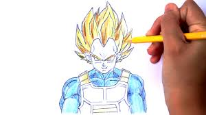 draw vegeta dragon ball