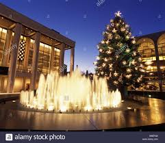 christmas tree lights revson fountain music hall lincoln center