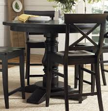 Round Counter Height Dining Tables Starrkingschool - Counter height dining table in black