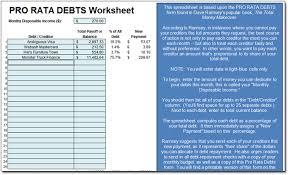 dave ramsey u0027s pro rata debts worksheet moneyspot org
