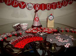 red black white party decorations decorating of party