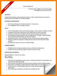 10 sle physical therapy resumes offecial letter