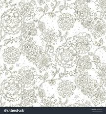 vector pattern floral elements organic ornament stock vector