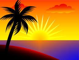 sunset over the ocean free clip art