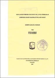 Salep Vco pengaruh coconut vco terhadap liberasi asam salisilat
